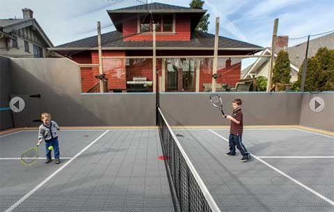 backyard sport court for kids - home renovations in Victoria